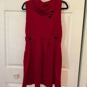 Retro ModCloth Monteau Brand Red Dress w/Pocket XL
